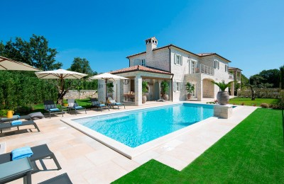 Beautiful stone villa in the heart of Istria with swimming pool and multi-purpose playground