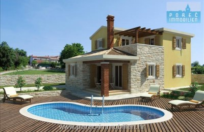 Novigrad, building land with the building permit for the villa with pool